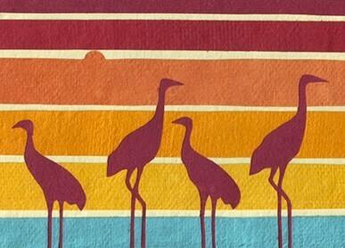 Herons at Dusk Card