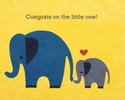 Elephant Congrats Greeting Card