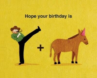 Kick Donkey Card