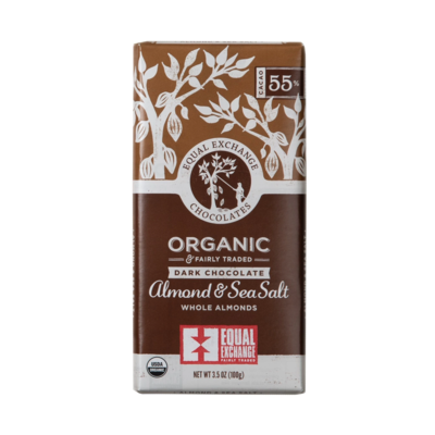 Organic Dark Chocolate Almond & Sea Salt 18209