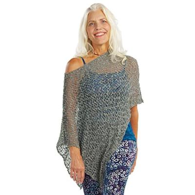 Crocheted Soul Warmer Sleeveless - Slate