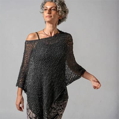 Crocheted Soul Warmer Sleeveless - Black