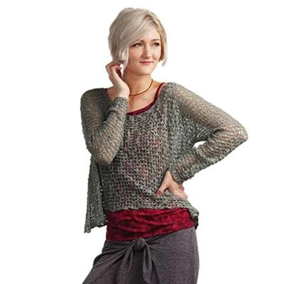 Crocheted Long Sleeve Soul Warmer - Red