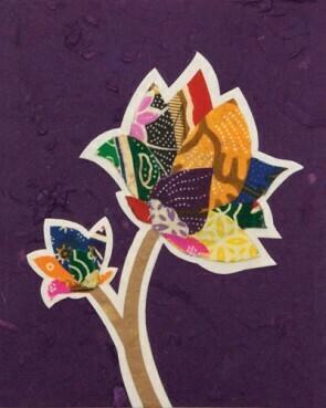 Batik Flower Card
