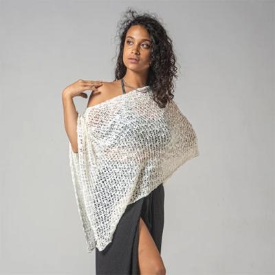Crocheted Soul Warmer Sleeveless - Natural