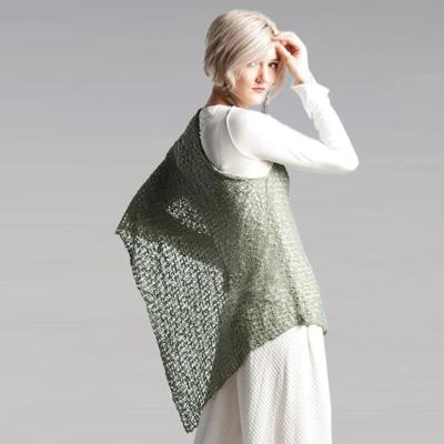 Crocheted Soul Warmer Sleeveless - Sage