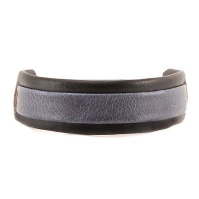 Two Tone Leather Bracelet