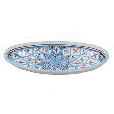 Rosette Med Oval Platter