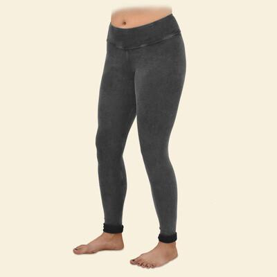 Maggie's Organic Cotton Grey Fleece Leggings - Large