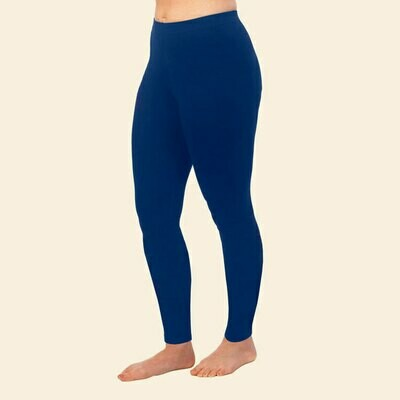 Maggie's Organic Cotton Navy Basic Ankle Leggings - Small