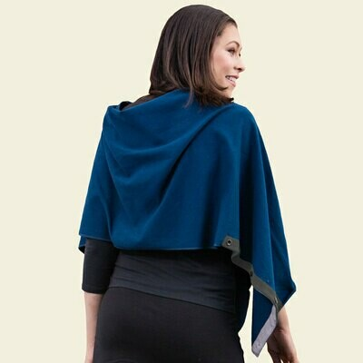 Maggie's Organic Reversible Button Cape - Navy
