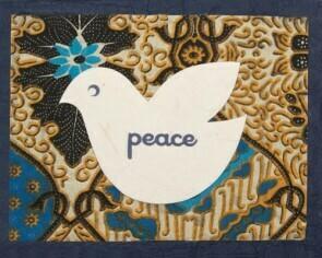 Batik Peace Dove 25002