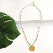 Gold Simple Medallion Necklace