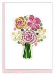Flower Bouquet Quilling Card (Sm)