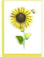 Sunflower Quilling Card (Sm)