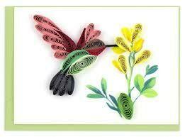 Hummingbird Quilling Card (Sm)