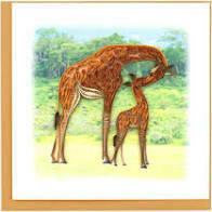 Giraffe Quilling Card