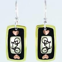 Bicycle Mixed Metals Earrings