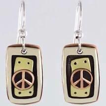 Peace Mixed Metal Earrings