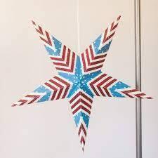 American Flag Star Paper Lantern
