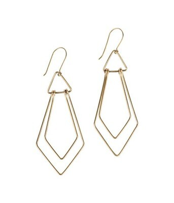 Art Deco Wire Earrings