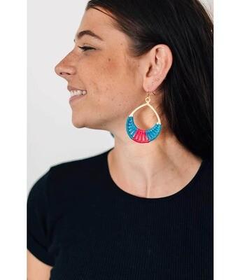 Crisscross Thread Earrings