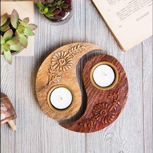 Yin Yang Tea Light Holder