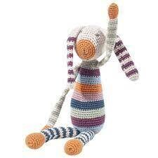 Organic Rainbow Bunny Stuffed Animal