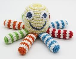 Rainbow Octopus Rattle Stuffed Animal