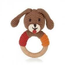 Wooden Dog Teething Ring