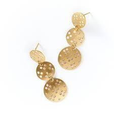 Chameli Gold Blossom Earrings