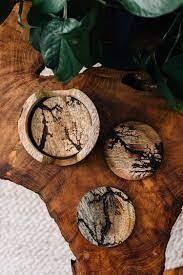 Electrified Wood Coasters Set