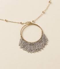 Bhavani Fringe Pendant Necklace