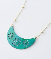 Chameli Teal Petal Necklace