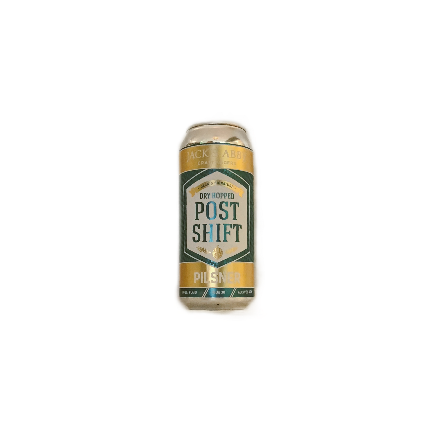 Jacks Abby DRY HOPPED Post Shift Pilsner