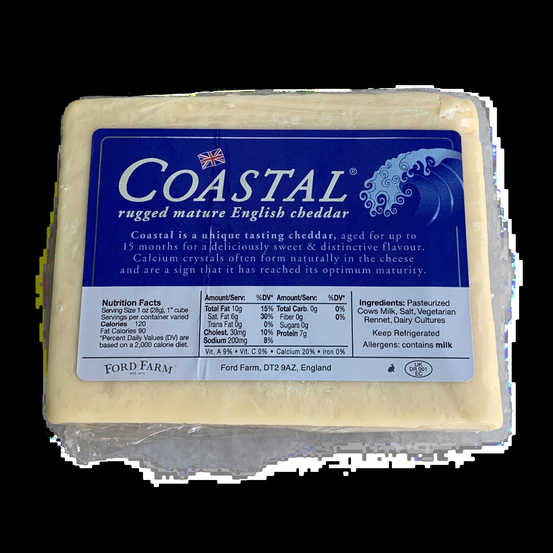 Coastal cheddar 8 oz. pre cut