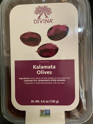 Divina Kalamata olives  4.6 oz.(cup)