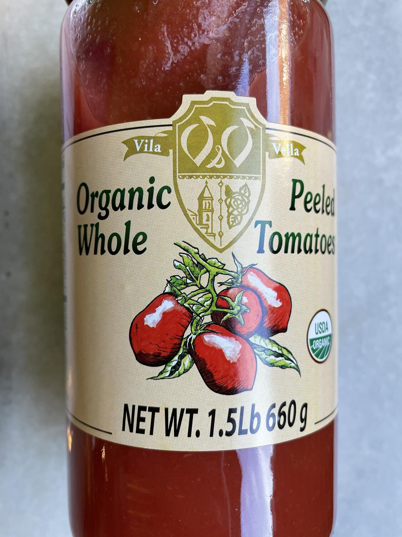 VILA VELLA organic peeled whole tomatoes