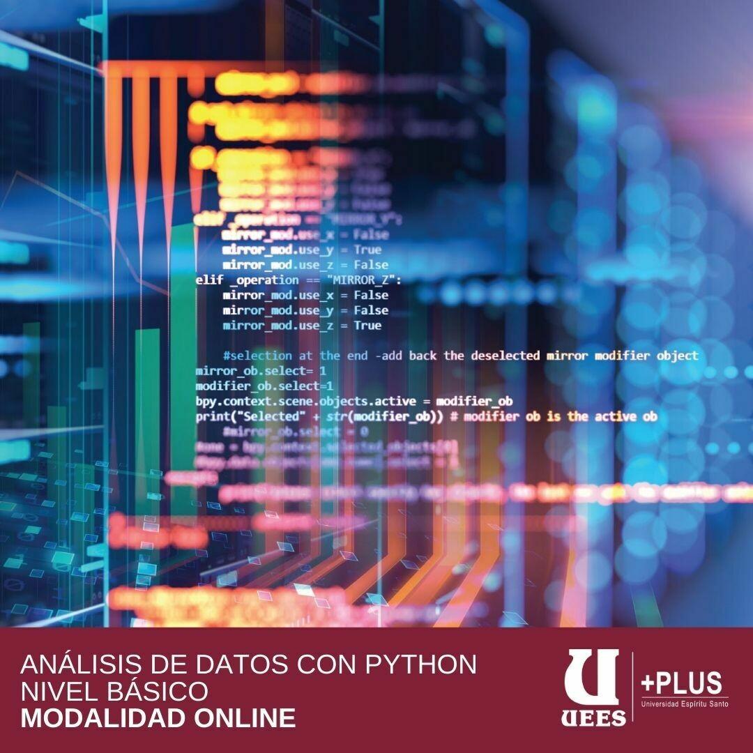 Análisis de Datos con PYTHON - Nivel Básico