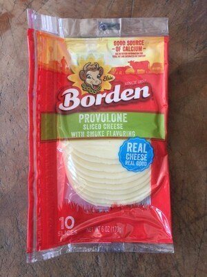 Deli / Cheese / Borden Natural Sliced Provolone Smoked