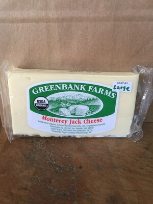 Deli / Cheese / Greenbank Organic Monterey Jack , Large  (about .66 lbs)