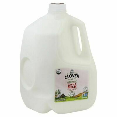 Dairy / Milk / Clover Organic Whole Milk Gallon