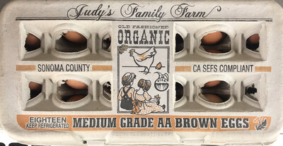 Dairy / Eggs / Judy's Organic Medium Eggs, 18 pk