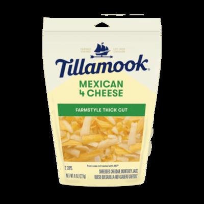 Deli / Cheese / Tillamook Shredded Mexican 4 Cheese, 8 oz.