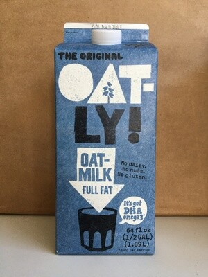 Dairy / Milk Substitute / Oatly Oatmilk Full Fat, half gallon