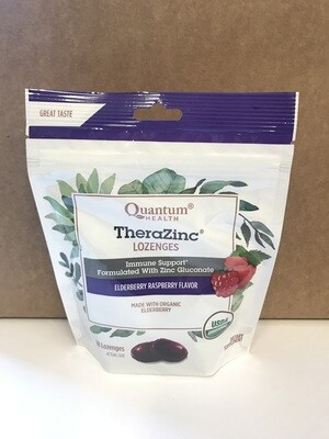 Health and Beauty / Cold / Quantum TheraZinc Lozenges, Elderberry Raspberry, 18 ct