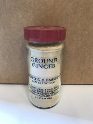 Grocery / Spice / Morton & Bassett Ginger Ground, 2.1 oz