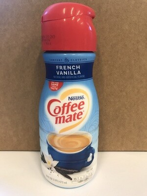 Dairy / Milk Substitute / Coffee Mate Creamer, French Vanilla, 16 oz