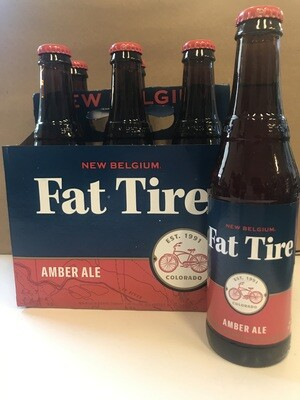 Beer / 6 Pack / New Belgium Fat Tire 6pk