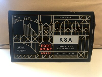 Beer / 6 Pack / Fort Point KSA 6pk